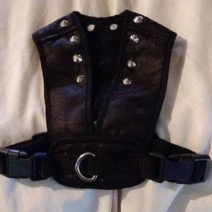 S. Pefectly Pet black silver nail studed Harness